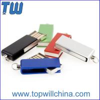 Wholesale Tiny Swivel Thumb Drives 16GB 32GB with Free Key Chain and Free Logo Printing from china suppliers