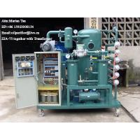 Wholesale ZJA Double-Stage Vacuum Transformer Oil Purification &Insulation Oil Treatment Equipment from china suppliers
