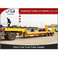 Wholesale Heavy duty 3 axles spring ramp low loader truck trailer for sale from china suppliers