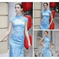 Wholesale ELYSEMOD Sheath/Colum Halter Asymetrical Embroidery Quick Delivery Bridesmaid Wedding Party Dress from china suppliers