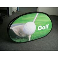 Wholesale Golf Outdoor Oval Pop Up Advertising Banners Green With Spring Metal Steel Frame from china suppliers