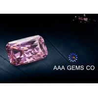 Wholesale Radiant Cut Colored Pink Moissanite For Decoration VVS1 In Clarity from china suppliers