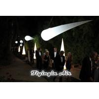 Wholesale 3m Hanging Party and Wedding Decoration Inflatable Light Cone for Dinner Night from china suppliers