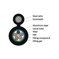 Wholesale Steel Wire Stranded 12 Core G652D Figure 8 Aerial Fiber Optic Cable With Waterproof from china suppliers