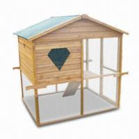 Wholesale Chicken House, Made of Solid Fir Wood and Wire Mesh, Measures 141 x 121 x 135cm from china suppliers