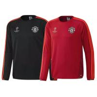 Wholesale Champions League Manchester United Custom Football Hoodies Red Black Orignal Thailand from china suppliers
