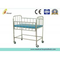 Wholesale Stainless Steel Hospital Baby Beds Children Crib Baby With Four Casters (ALS-BB09) from china suppliers