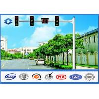 Wholesale Material Q345 Traffic Signal Pole 6M Height with 11M Single Arm 20 years Warranty from china suppliers
