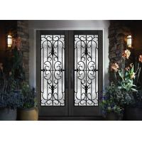 Wholesale Home Decration Tempered Wrought Iron Door Glass Silk Screening 22*64 Inch from china suppliers
