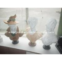 Wholesale Stone Carvings/ Stone Sculptures/ Granite Sculpture/ Marble Sculpture (White Marble Human Head) from china suppliers