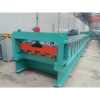 Wholesale PPGI Floor Deck Roll Forming Machine Concreate With Embossing Rollers For 1.2mm Thickness from china suppliers