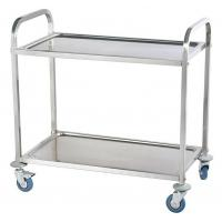 Wholesale Durable 2 Tier Collapsible Stainless Steel Serving Cart High Load Capacity from china suppliers