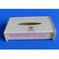 Wholesale High quality white acrylic tissue holder promotional napkin box made in China from china suppliers