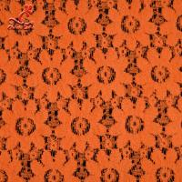 Wholesale Soft Fancy Burnt Orange Embroidered Lace Fabric For Saree Clothes from china suppliers