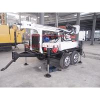 Quality Light weight trailer water well drill rig with dth and mud drilling capacity for sale