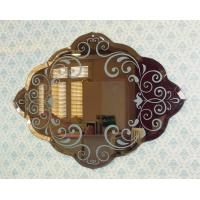 Quality Decorative pattern beveled edges frameless mirror for sale