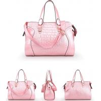 Buy cheap American accessories patent leather crocodile pattern shoulder bags for ladies from wholesalers
