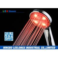 Wholesale Red LED Rain Shower Head Handheld Shower Without Battery For Bathroom from china suppliers