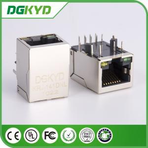 Integrated magnetics 100BASE RJ45 Ethernet Jack Single Port with Filter, LEDs
