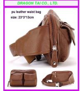 Wholesale PU leather waist bag, waist belt bag, customized waist bag from china suppliers