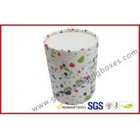 Wholesale round cosmetic paper packaging boxes customized CMYK paper tube box with lid and base from china suppliers