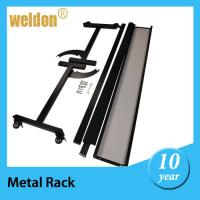 Wholesale Black Powder Coated Board Cutter Stand Feet Display Brackets with Wheels BY CNC from china suppliers