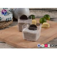 Wholesale Recyclable Mini Plastic Square Cups BPA Free Dessert Plastic Containers from china suppliers