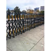 Quality Powder Coated Aluminium Safety Accordion Barrier Gate For Crowd Control With Brakes for sale