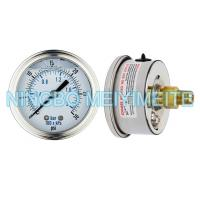 Wholesale High Accuracy Glycerin Hydraulic Pressure Gauge Crimp Type With Screw In Connector from china suppliers