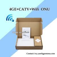 Quality high quality EPON CATV ONU with 4GE/4FE Wifi CATV ONU support IPTV 4GE CATV EPON ONU for sale