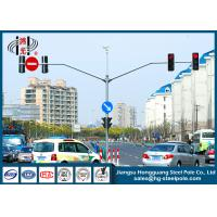 Wholesale S355J2G3 Red Green Automated Traffic Light Pole ,  Traffic Sign Pole from china suppliers