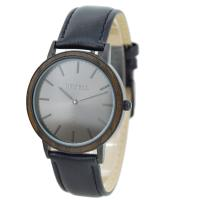 Wholesale Quartz Mens Wrist Wood And Steel Watches With DIY Leather Strap , Custom Logo from china suppliers