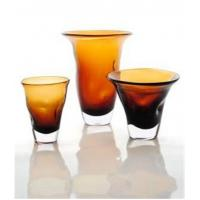 Buy cheap Amber Decorative Glass Vase For Interior Decoration, Handmade and Innovative Design from wholesalers