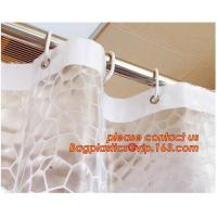 China Water-Repellent Fabric Custom Print Shower Curtain Mildew-Resistant Machine Washable White ,Bathroom Bath Textile Fabric on sale