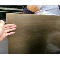 Wholesale satin brush titanium bronze coated sheets color stainless steel 304 316 from china suppliers
