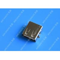 Buy cheap DIP 180 Degree Jack Socket 4 Pin USB Charging Connector , 15mm USB 2.0 Female Type A Connector from wholesalers