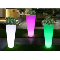 Wholesale Waterproof Color Change Led Flower Pots , Outdoor Balcony Light Up Flower Pots from china suppliers
