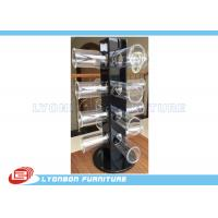 Wholesale Rotated Glossy Black Bracelet Hanging Display Rack With Round Acrylic Hangers from china suppliers