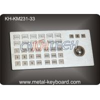 Wholesale Ruggedized Metal Panel Mount Industrial Keyboard with Trackball from china suppliers