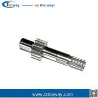 Wholesale 1045 steel 6teeth involute spline shaft for gearbox gear reducer agriculture machine from china suppliers