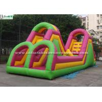 Wholesale Outdoor Giant Inflatable Obstacle Course With Big Slide For Kids N Adults from china suppliers