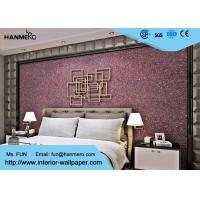 Wholesale Purple Contemporary Mica Stone Wallpaper , Interior Decorating Wallpaper For Bedrooms from china suppliers