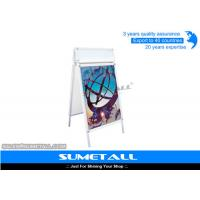Buy cheap Aluminum Shop Display Fittings / Sandwich Board Signs A Frame For Advertising from wholesalers