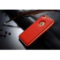 red leather case bumper cover for iphone 6
