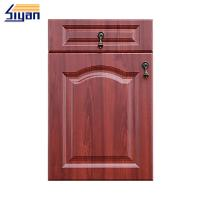 Quality Customized Kitchen Classics Cabinet Doors Cnc Carved With Red Wood Grain Color for sale