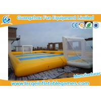 Wholesale Waterproof 0.9mm PVC Inflatable Sports Field , Inflatable Football Pitch from china suppliers