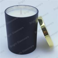 Wholesale black candle container, candle cup with gold lid in home decor from china suppliers