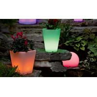 Wholesale 2018 new arrival illuminated outdoor decorative garden round flowerpot from china suppliers