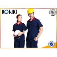 Wholesale Safety Work Custom Work Uniforms , Factory Worker Uniform Shirts With Short Sleeve from china suppliers