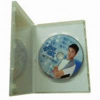 CD/DVD disc replication with clear plastic DVD case, cellophane packaging